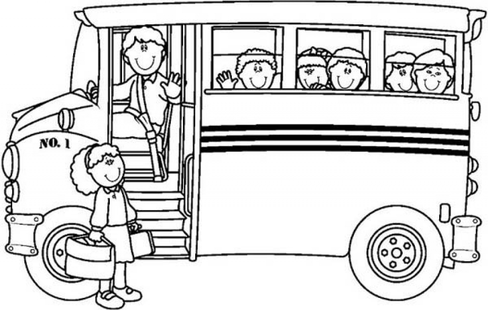 online school bus coloring pages 6q191