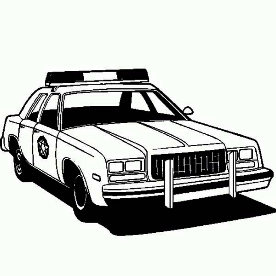 20 Free Printable Police Car Coloring