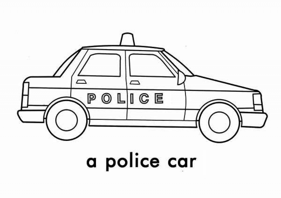 police car coloring pages free printable 76955 - Police Car Coloring Pages