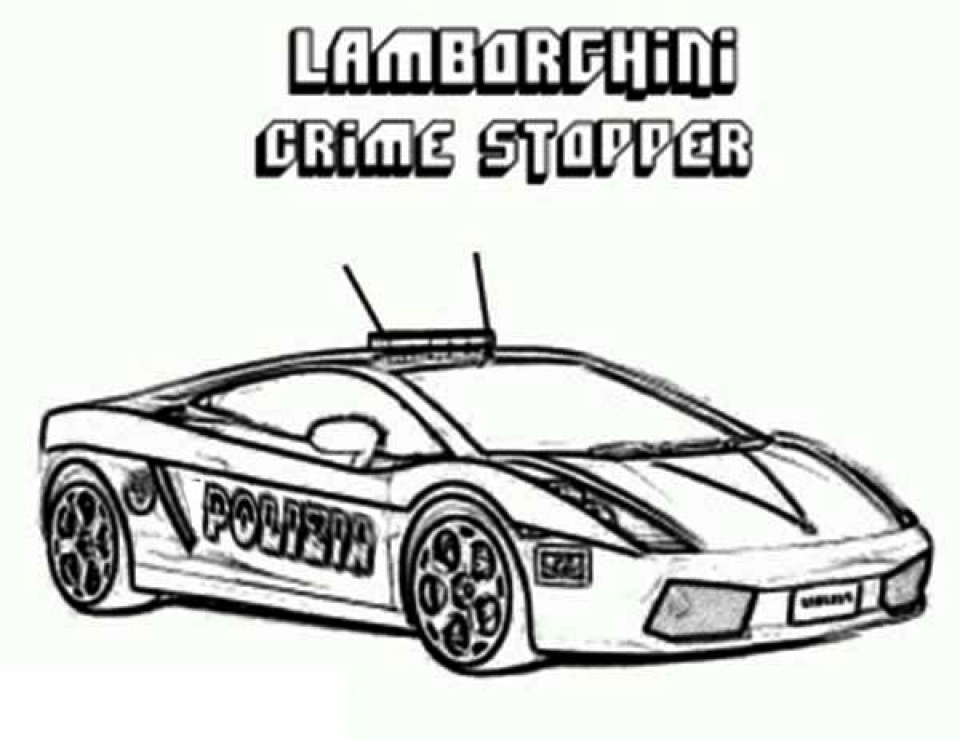 Get This Police Car Coloring Pages