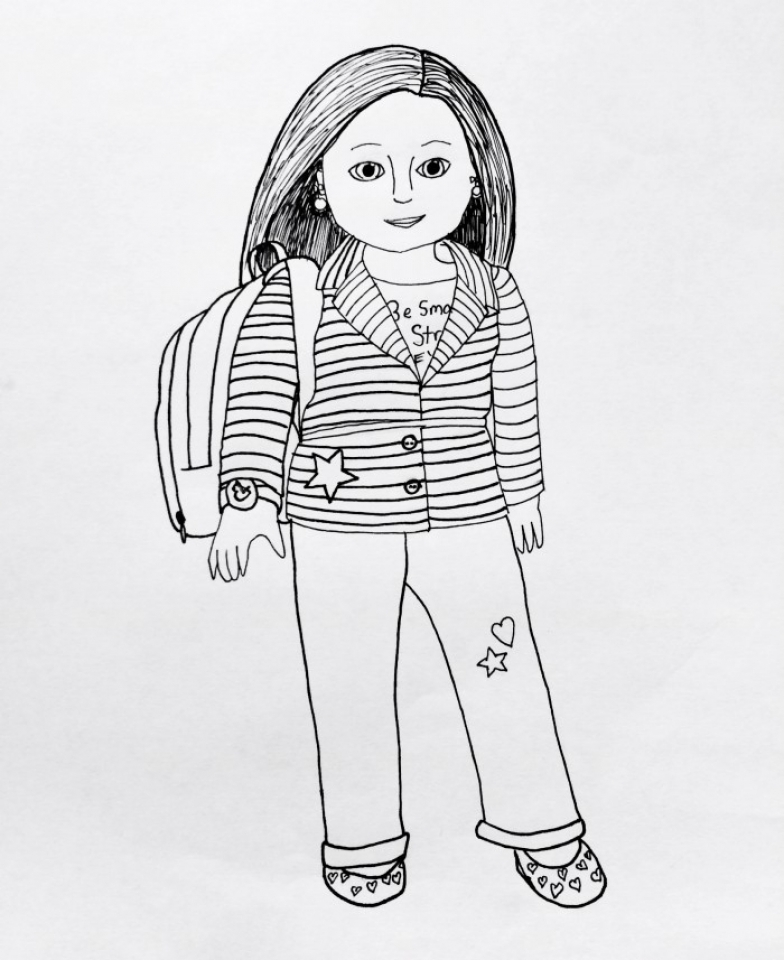 Girl Printable Coloring Pages