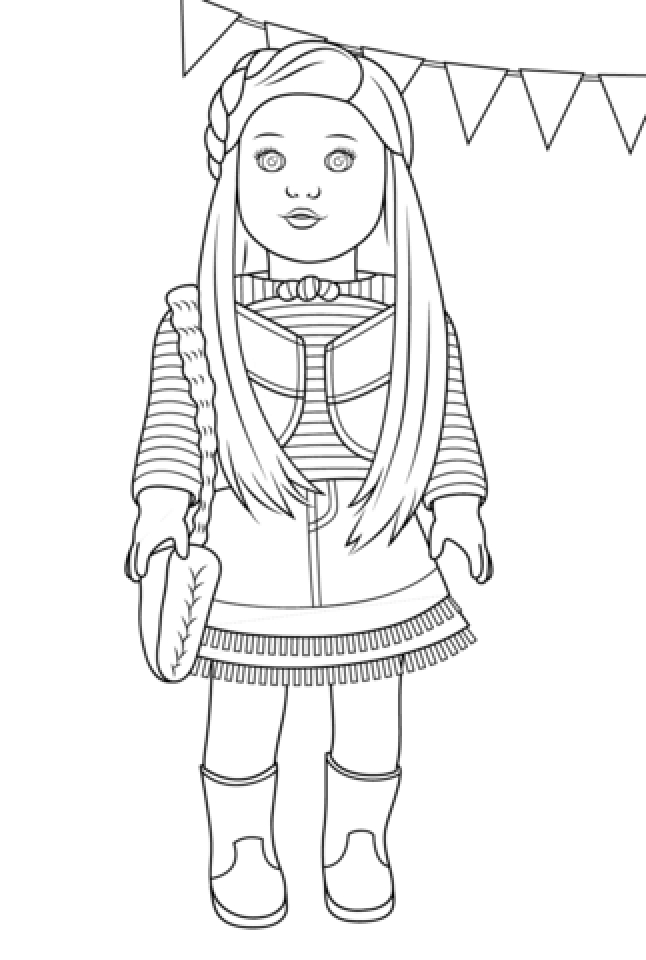 20+ Free Printable American Girl Coloring Pages - EverFreeColoring.com