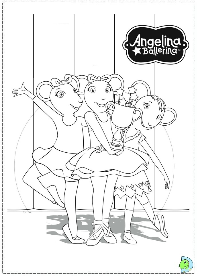 printable angelina ballerina coloring pages online 106081 - Angelina Ballerina Coloring Pages