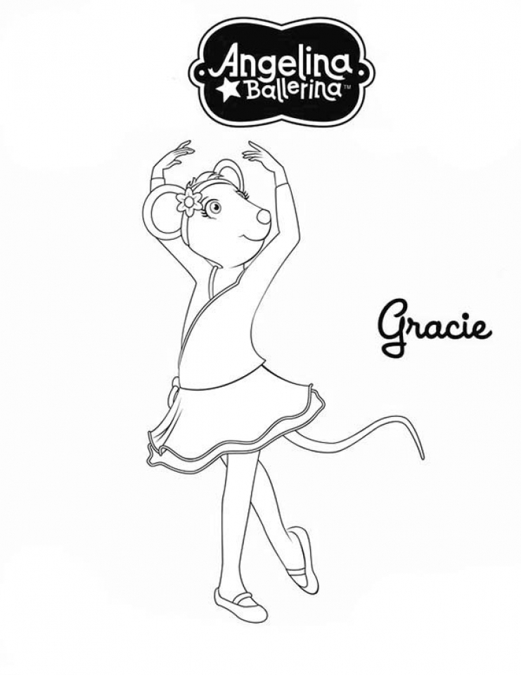 printable angelina ballerina coloring pages online 711866 - Angelina Ballerina Coloring Pages
