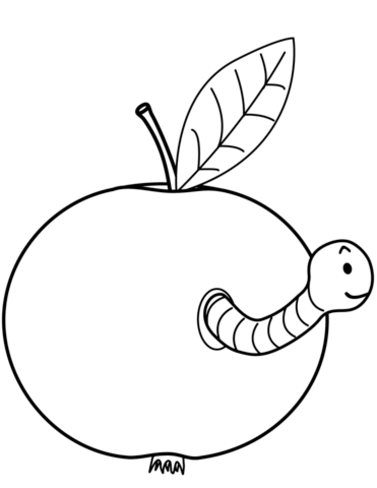 Printable Apple Coloring Pages Online 2x540