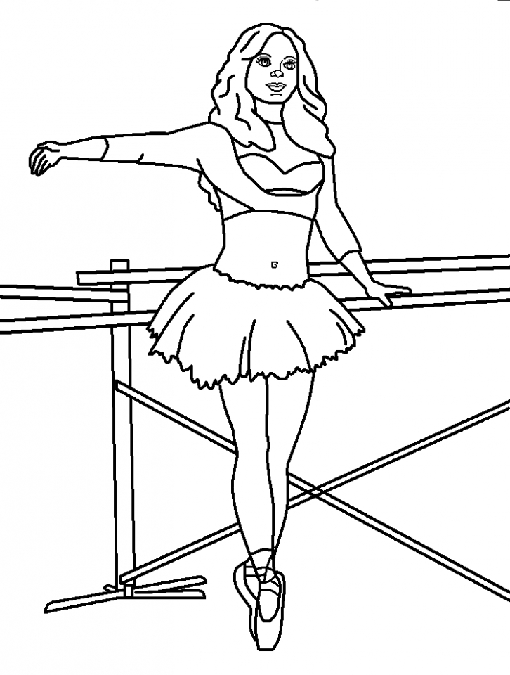 get this beautiful ballerina coloring pages 99751 ! - Ballerina Coloring Pages Printable