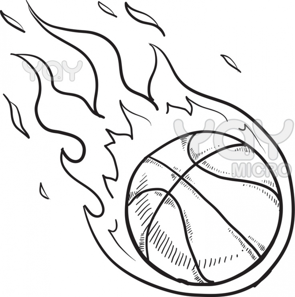 Get This Printable Basketball Coloring
