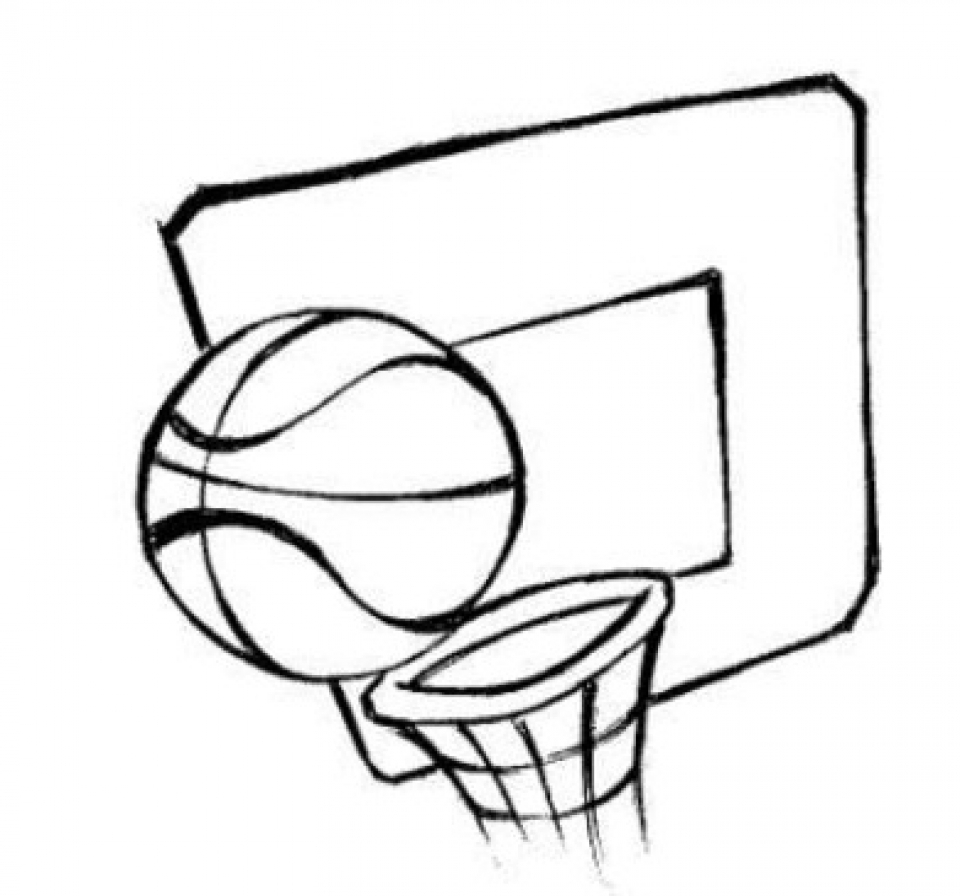 Coloring pages basketball printable