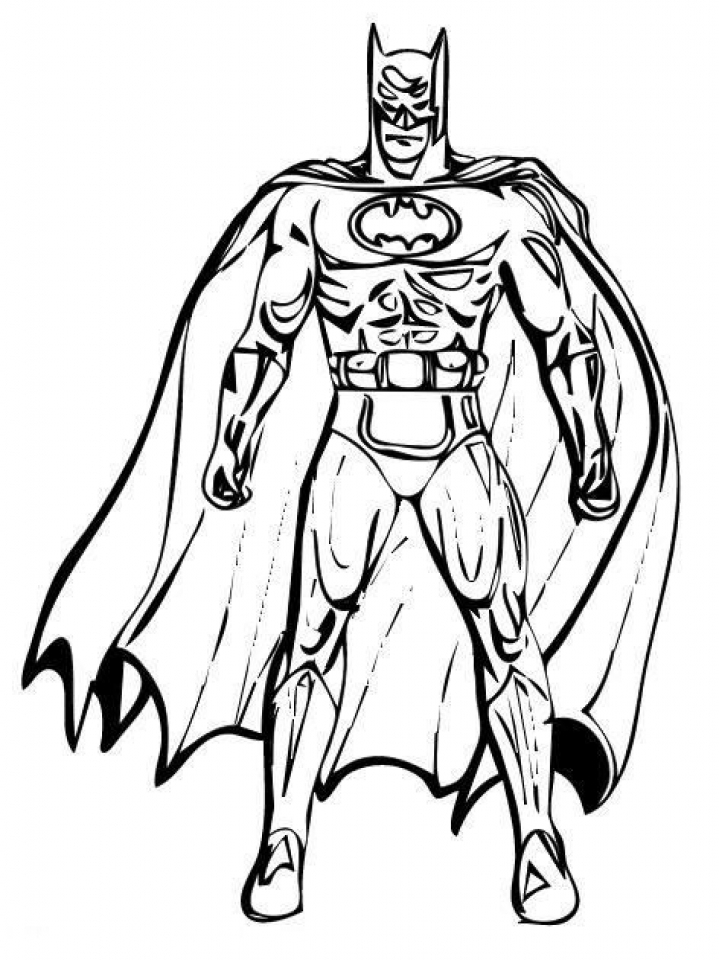 Batman Standing Batman Coloring Pages