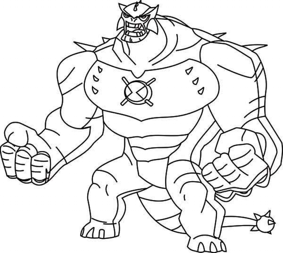Ben ten coloring pages printable free ben best free for Ten coloring page