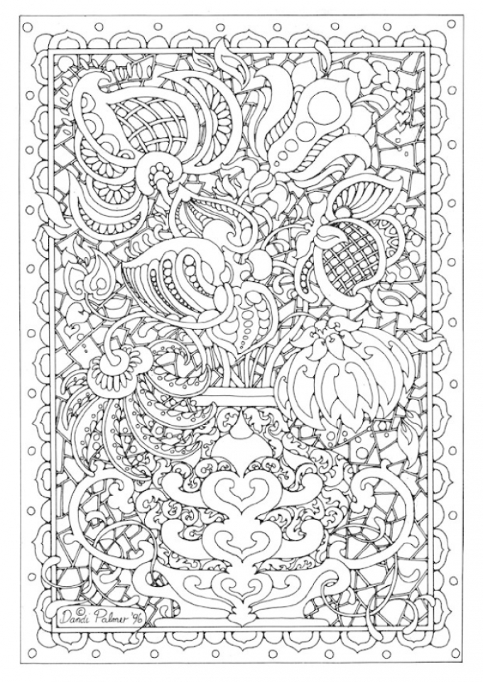 98 Complex Coloring Pages Online