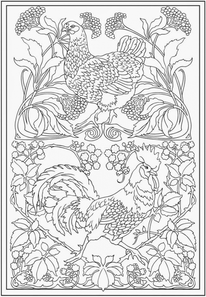 Get this printable complex coloring pages for grown ups Disney animals coloring book for adults