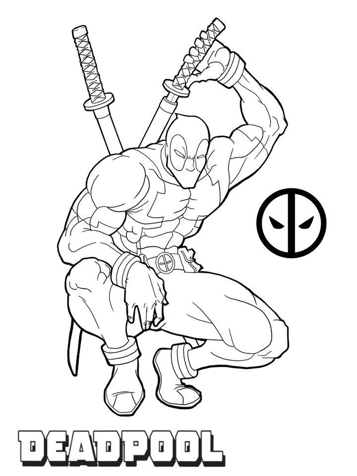 Get This Printable Deadpool Coloring Pages Online 106083 !