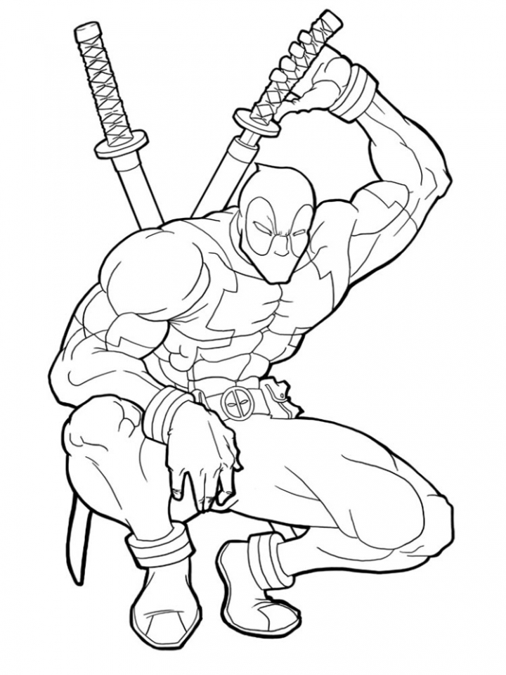 Deadpool Coloring Pages: Get This Printable Deadpool Coloring Pages Online 735296