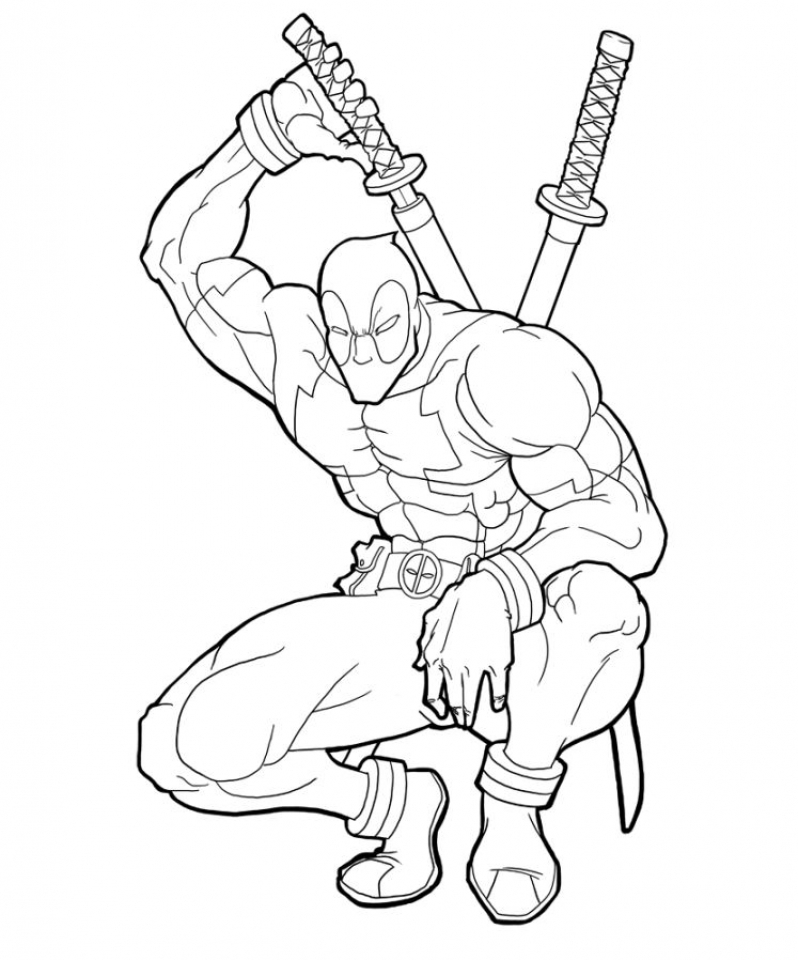 Get This Printable Deadpool Coloring Pages Online 781016 !