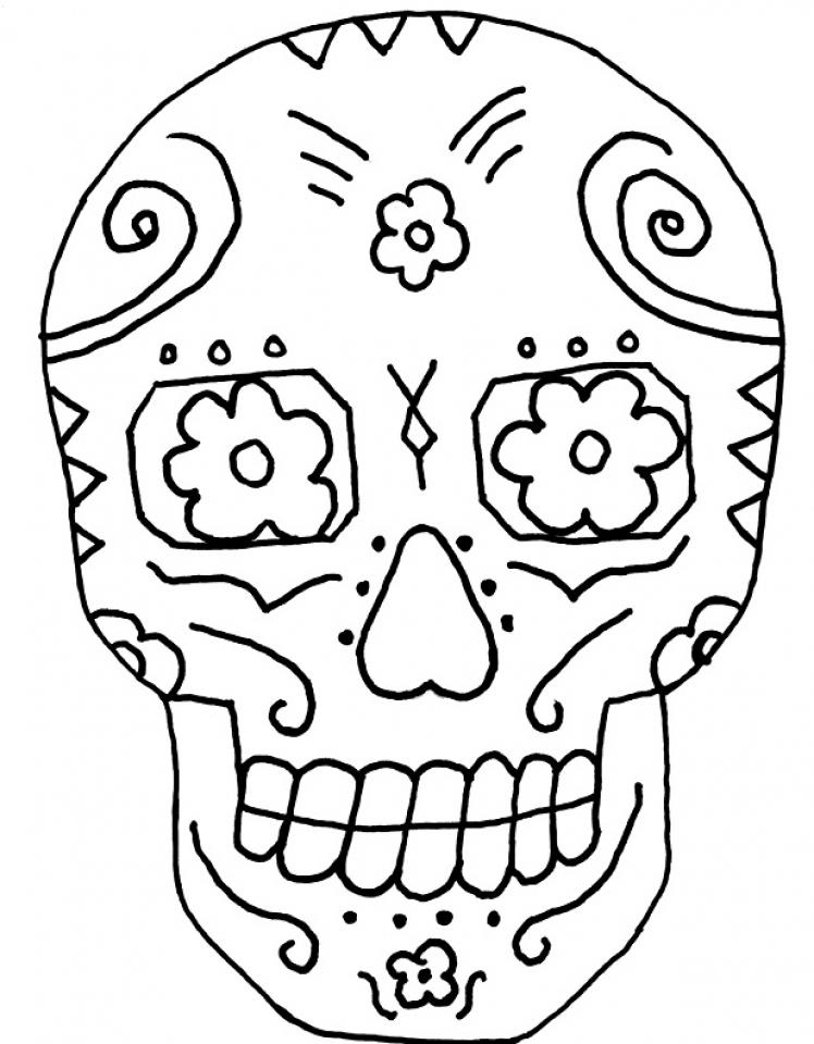 printable dia de los muertos coloring pages 9wchd - Dia De Los Muertos Coloring Book