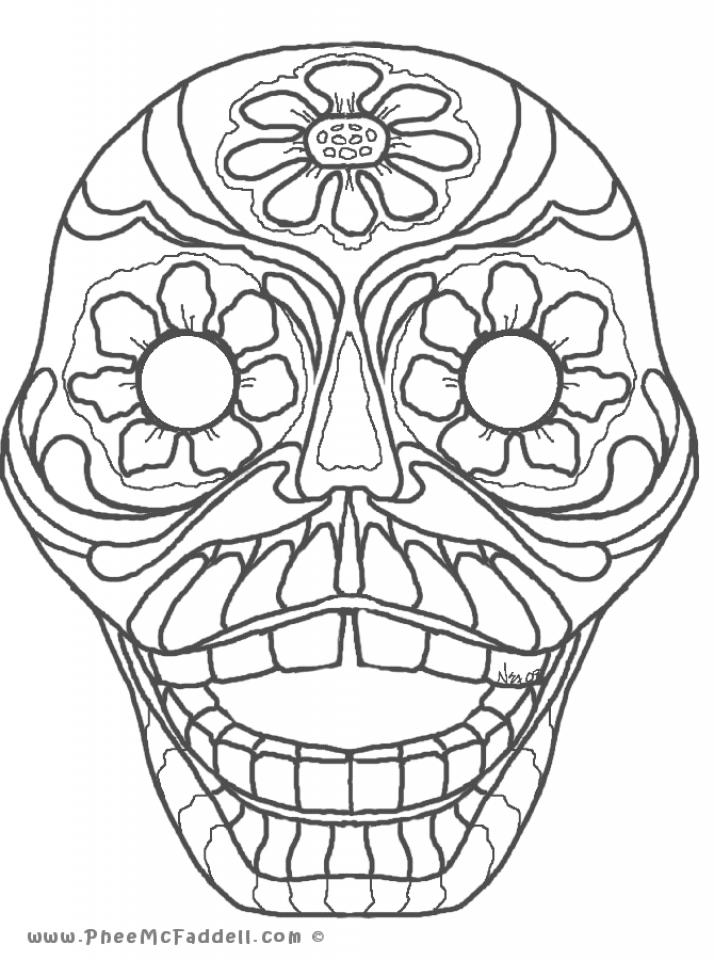 printable dia de los muertos coloring pages online 2535