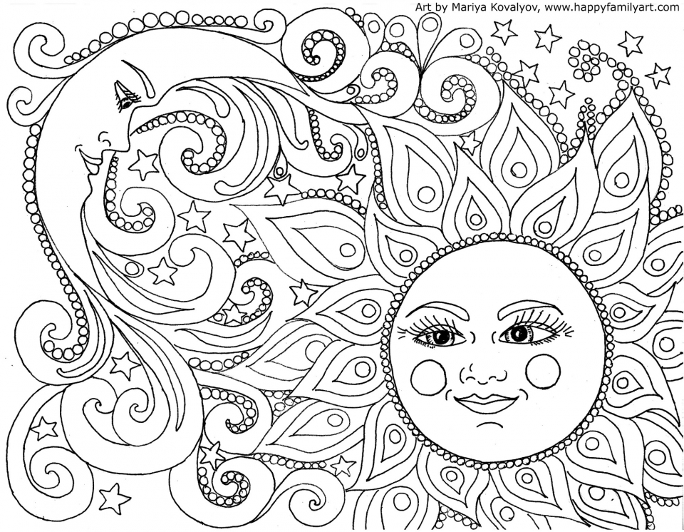 Get This Printable Doodle Art Coloring Pages for Grown Ups