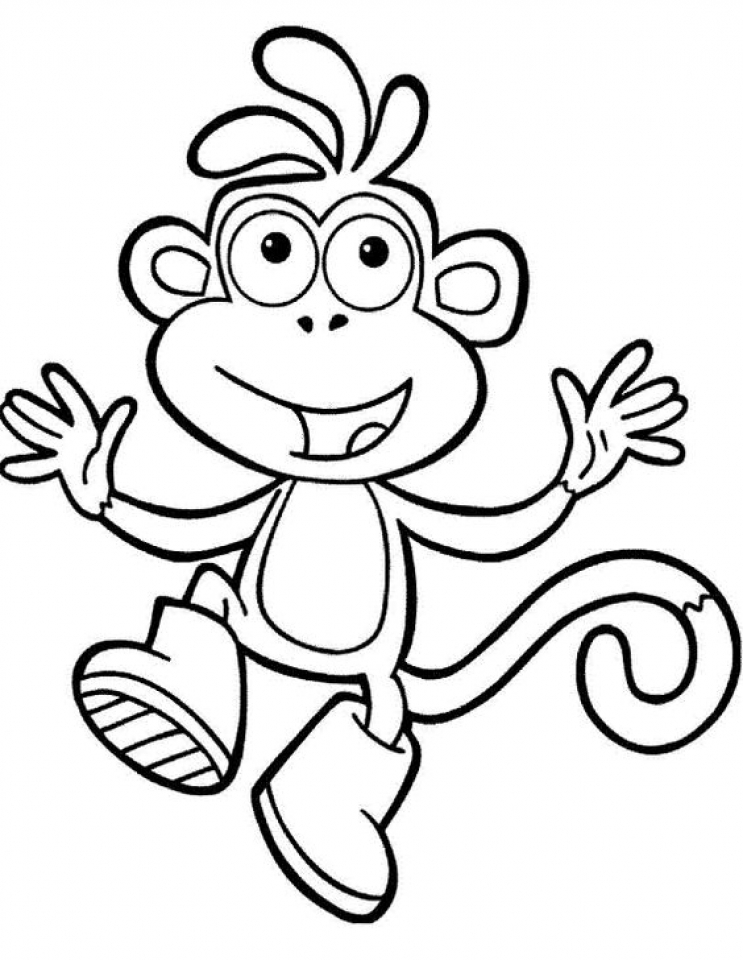 Printable Dora The Explorer Coloring Pages Online 2x551