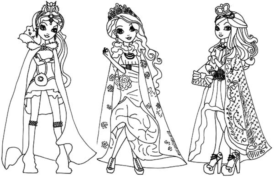 Get This Printable Ever After High Coloring Pages Online 59808 !