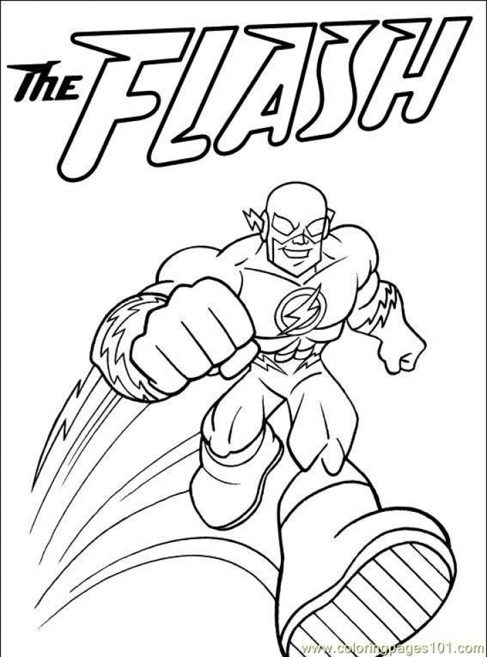 Get This Printable Flash Coloring Pages dqfk27