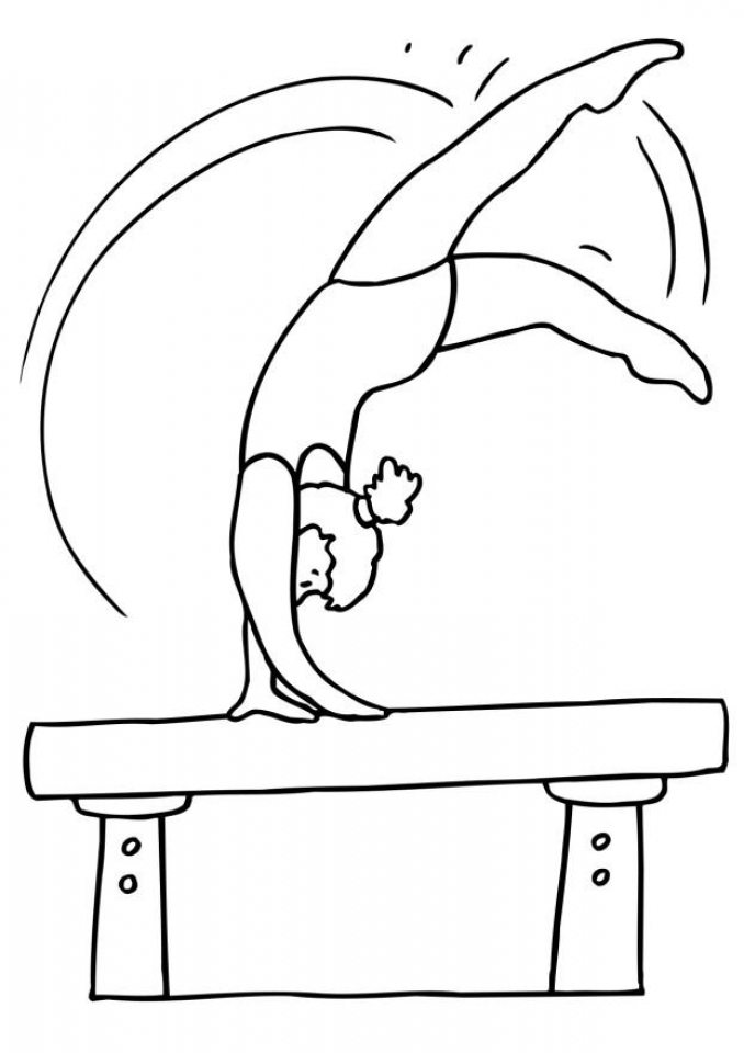 Get This Printable Gymnastics Coloring Pages Online Vu6h13 Gymnastics Coloring Pages