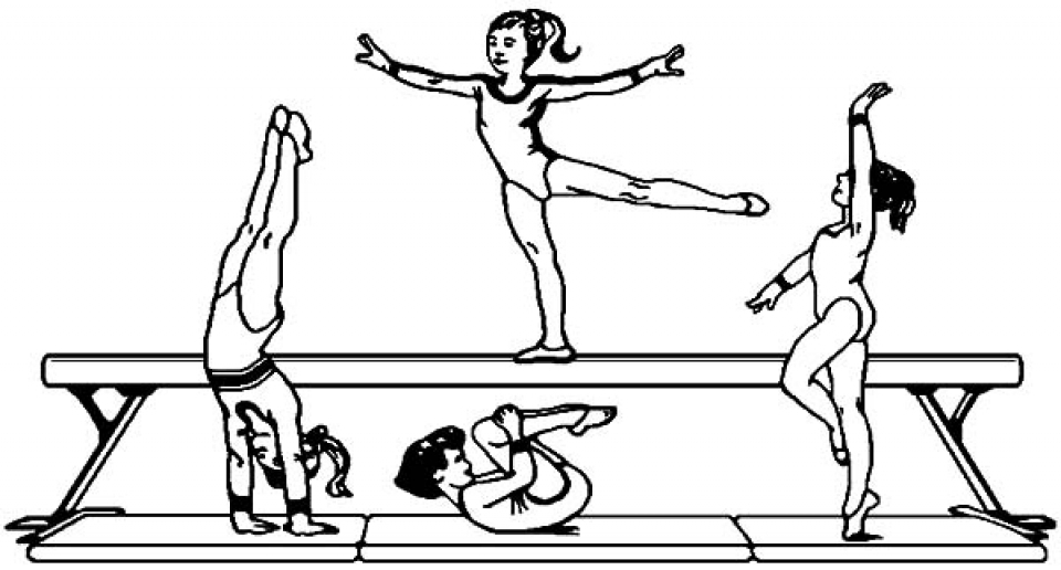 Get This Printable Gymnastics Coloring Pages yzost !
