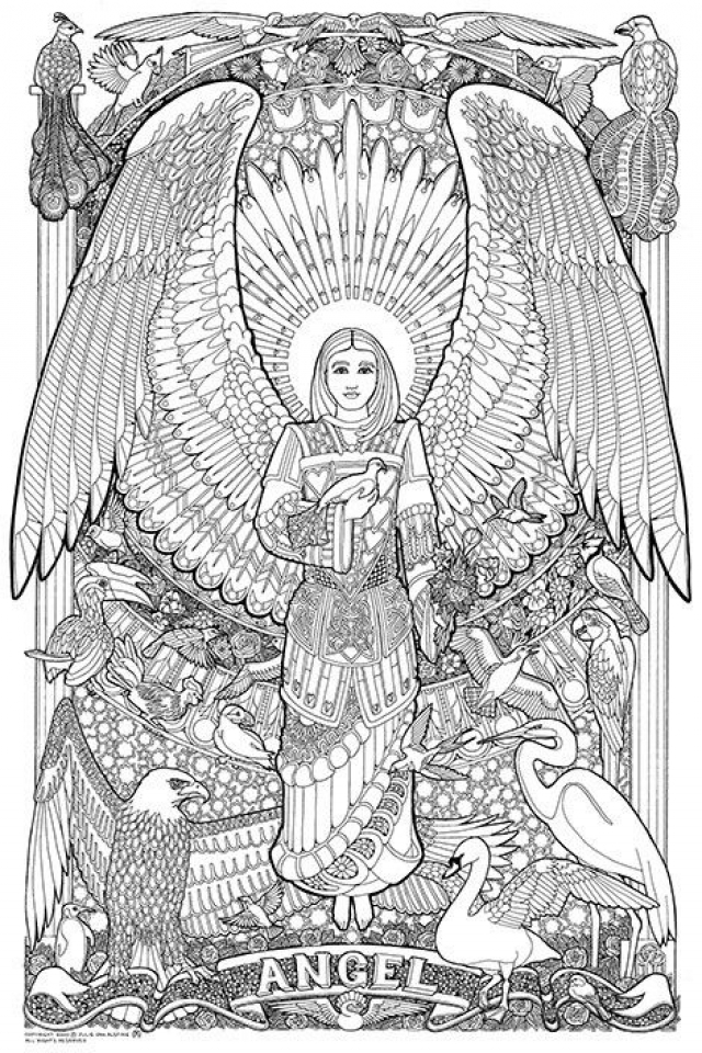 20 Free Printable Angel Coloring