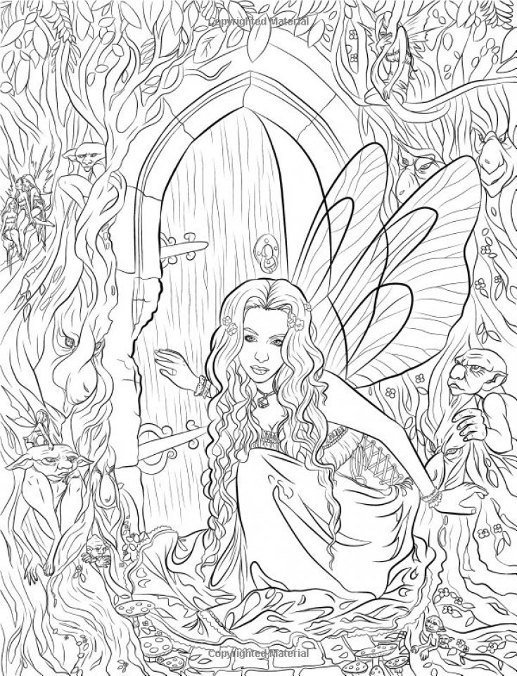 Get this printable hard coloring pages of angel for grown for Hard printable coloring pages