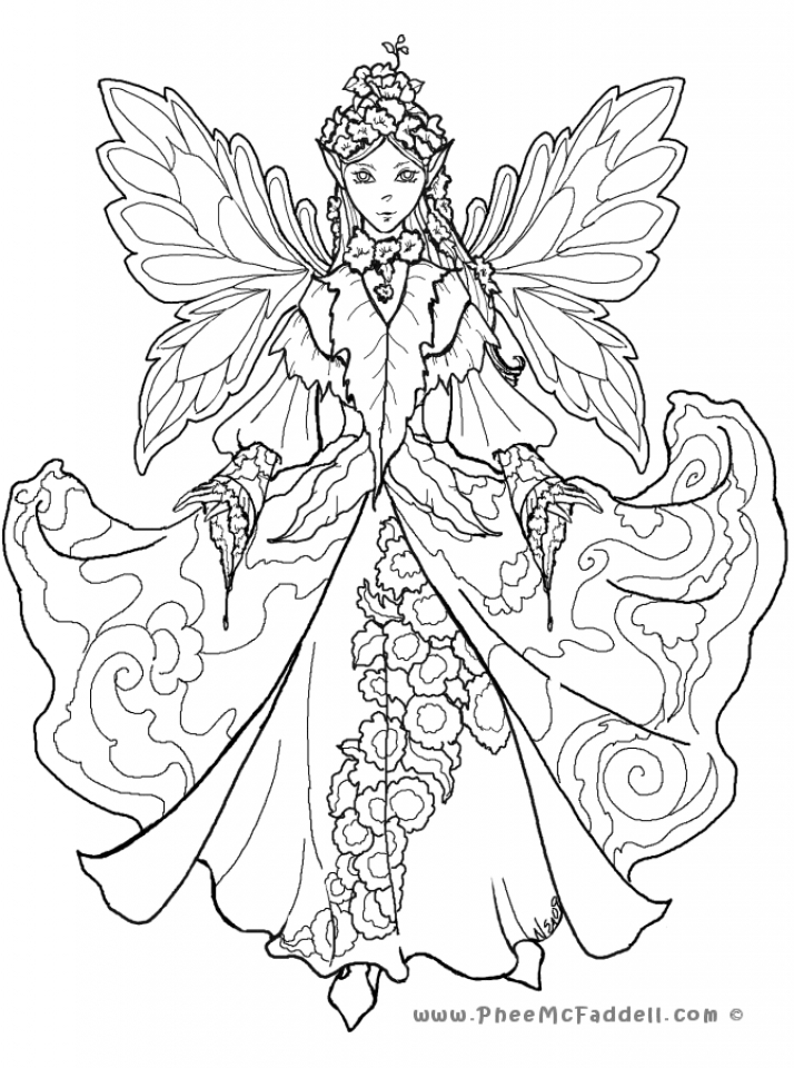 Get this printable hard coloring pages of angel for grown for Hard coloring pages