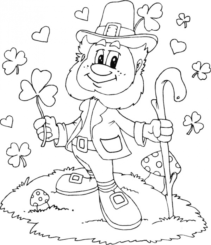 get this printable leprechaun coloring pages online 2x537