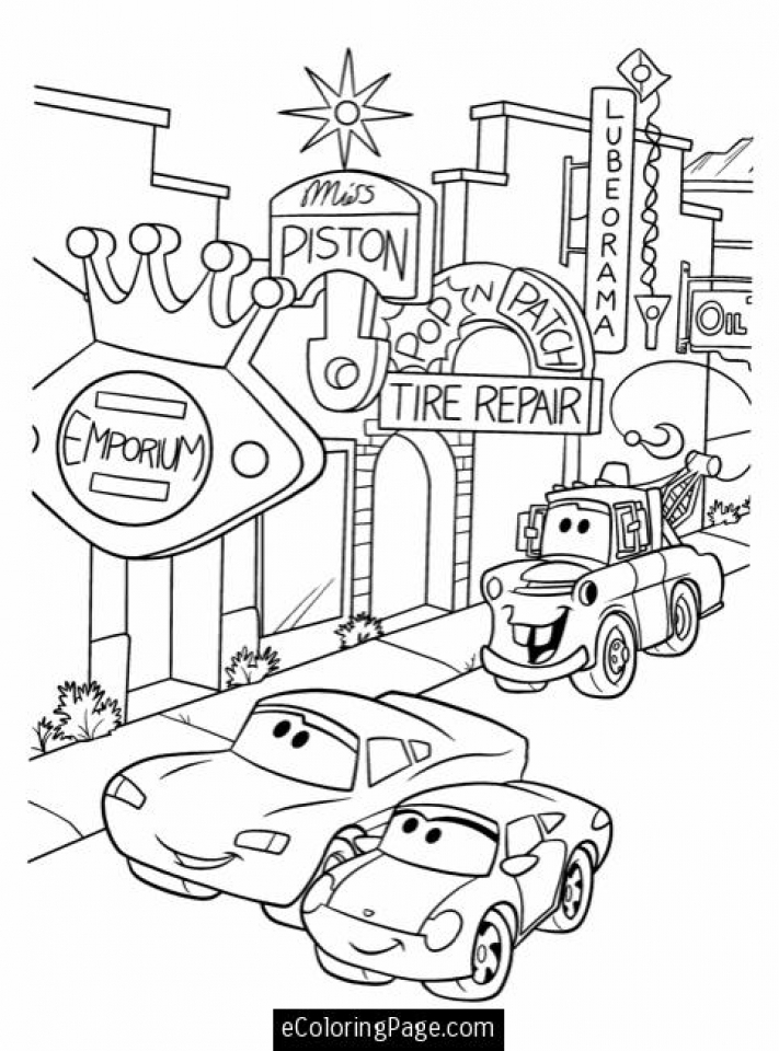 Get This Printable Lightning McQueen Coloring Pages 673364