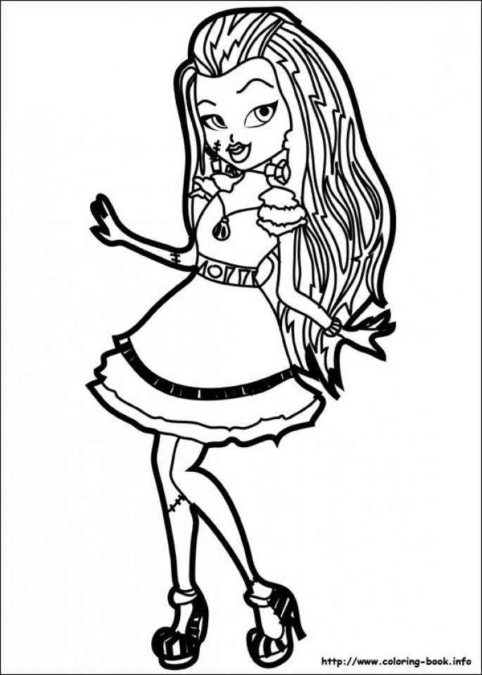 Get this printable monster high coloring pages online 781026 for Monster high color pages free