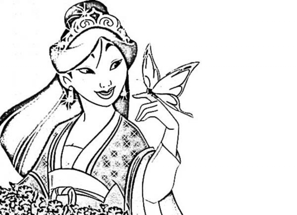 Get This Printable Mulan Coloring