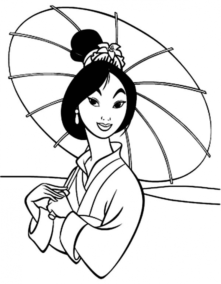 Printable Mulan Coloring Pages Online X