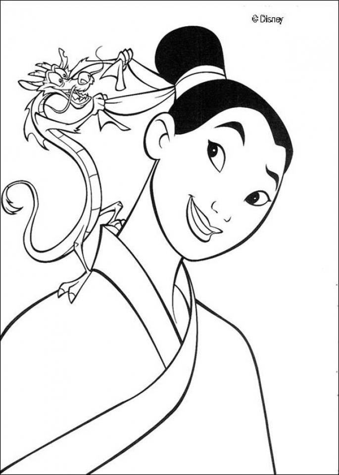 Printable Mulan Coloring Pages Online   gvjp10