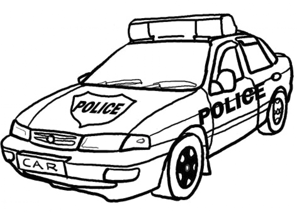 The Police - Free Colouring Pages