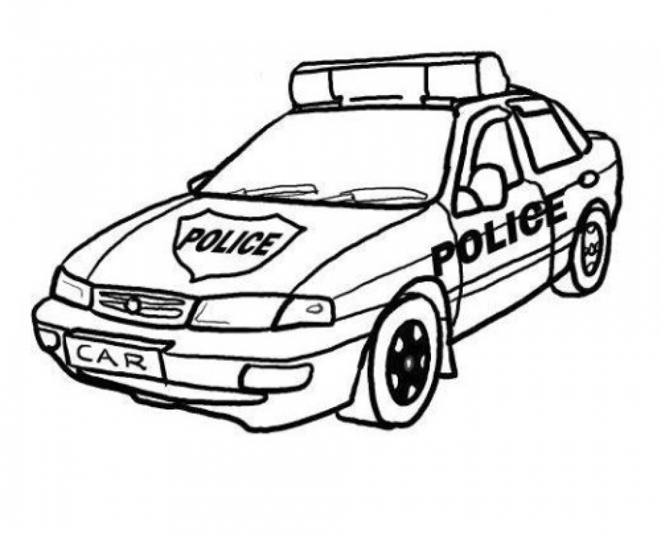 Printable Coloring Pages Of Police Cars For Boys