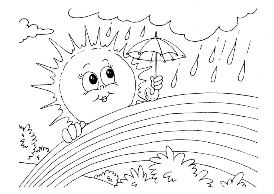 Get this printable rainbow coloring pages 9wchd for Coloring page rainbow
