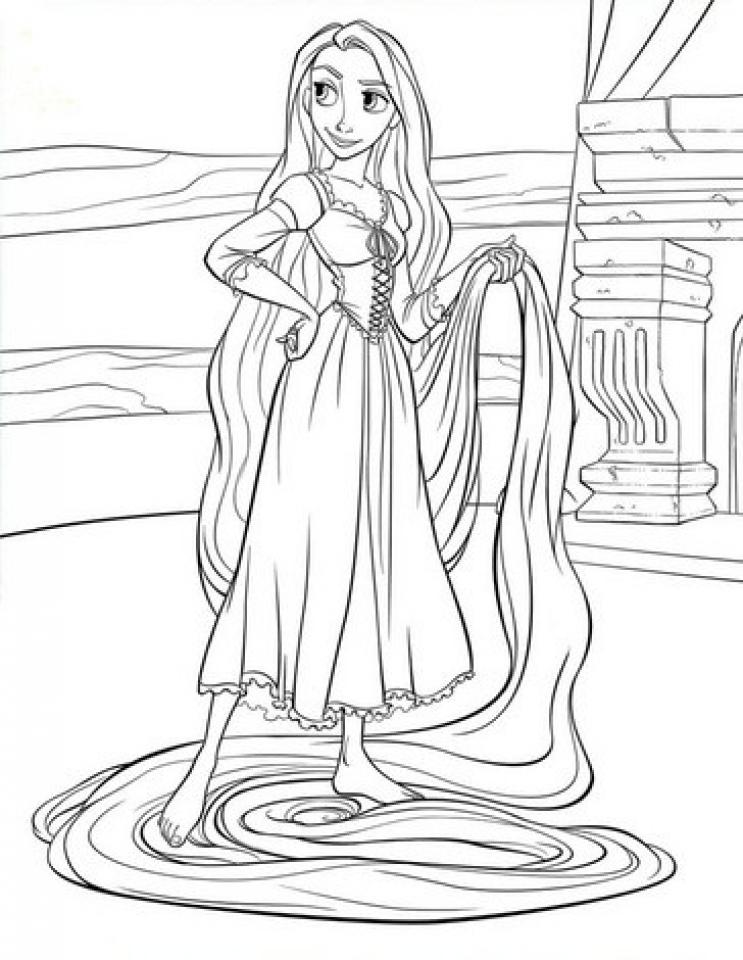 Printable Rapunzel Coloring Pages EK1HU