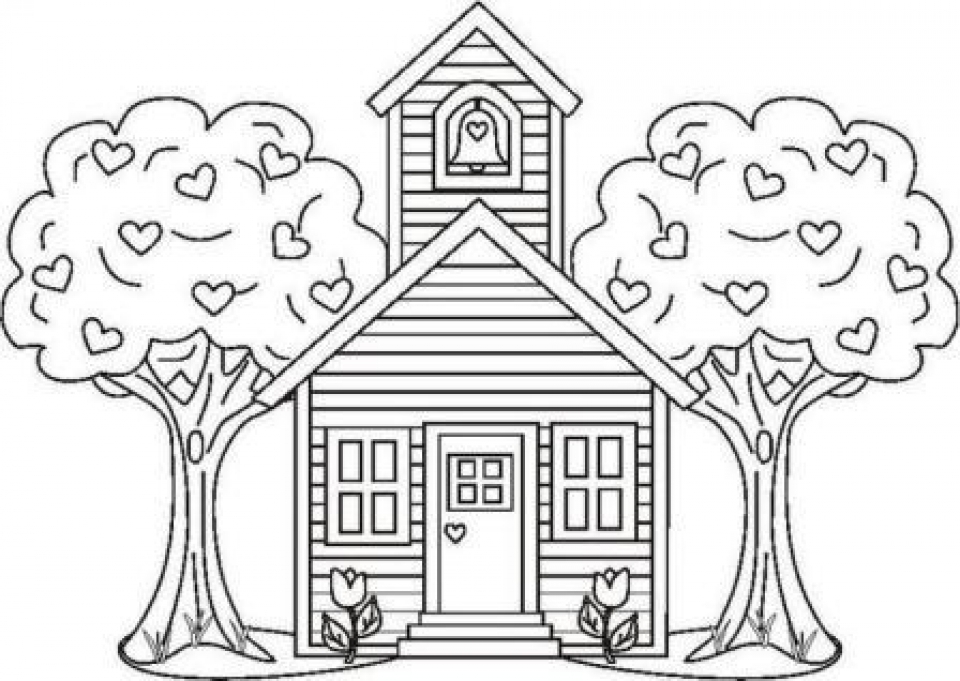 Preschool Coloring Pages School House Image Gallery HCPR