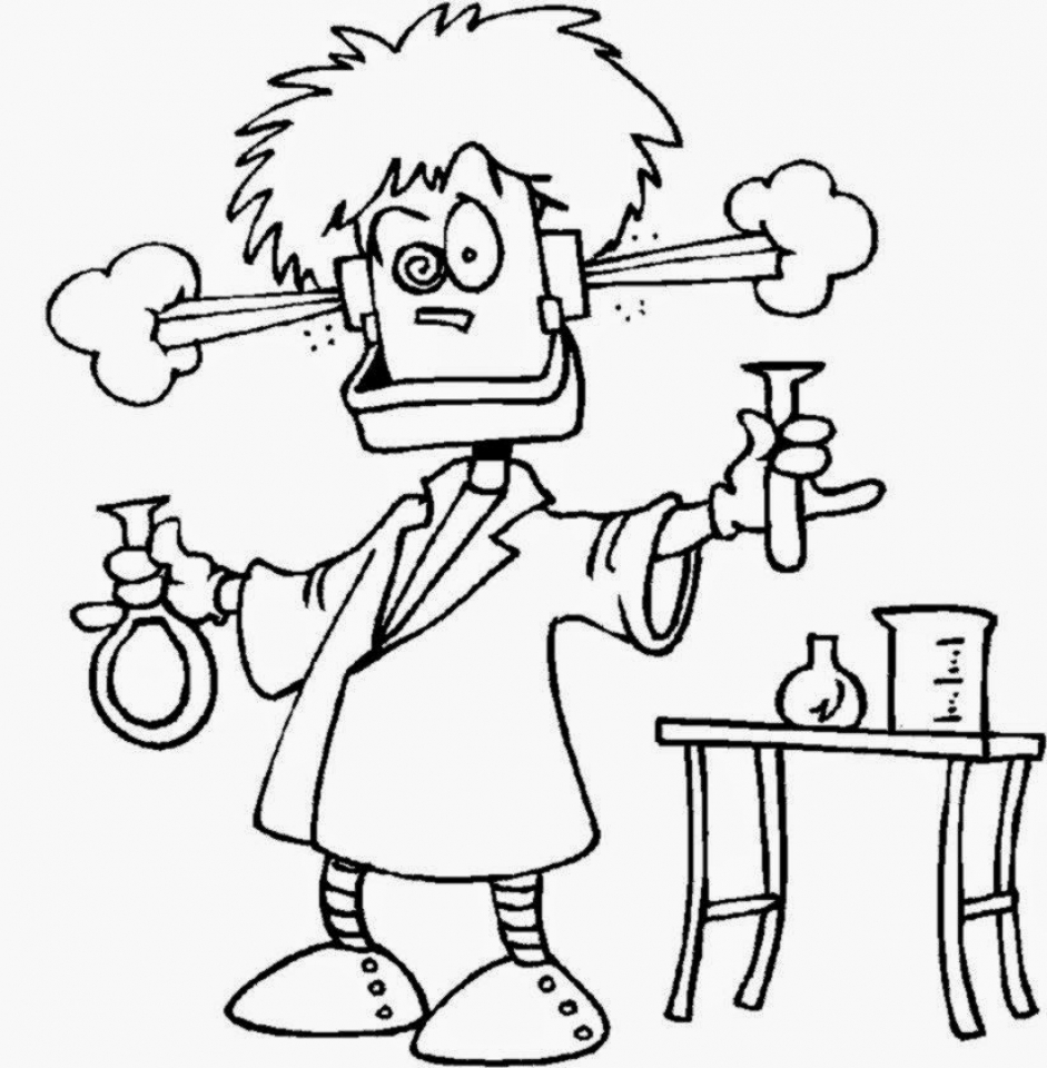 Scientist coloring pages print for Science coloring pages to print