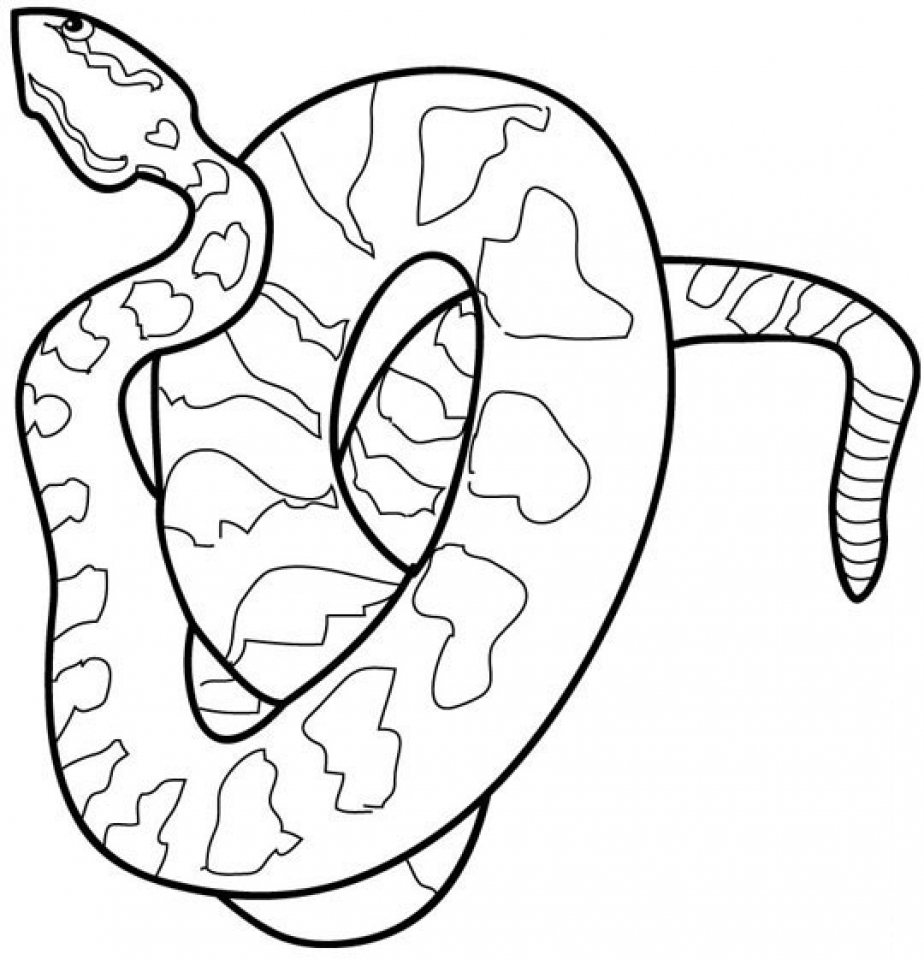 monster snake coloring pages - photo#33
