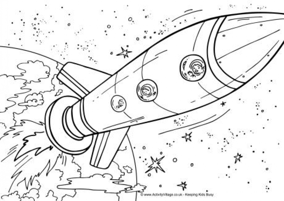 Get This Printable Space Coloring