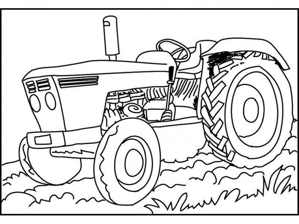 Printable Tractor Coloring Pages   58425