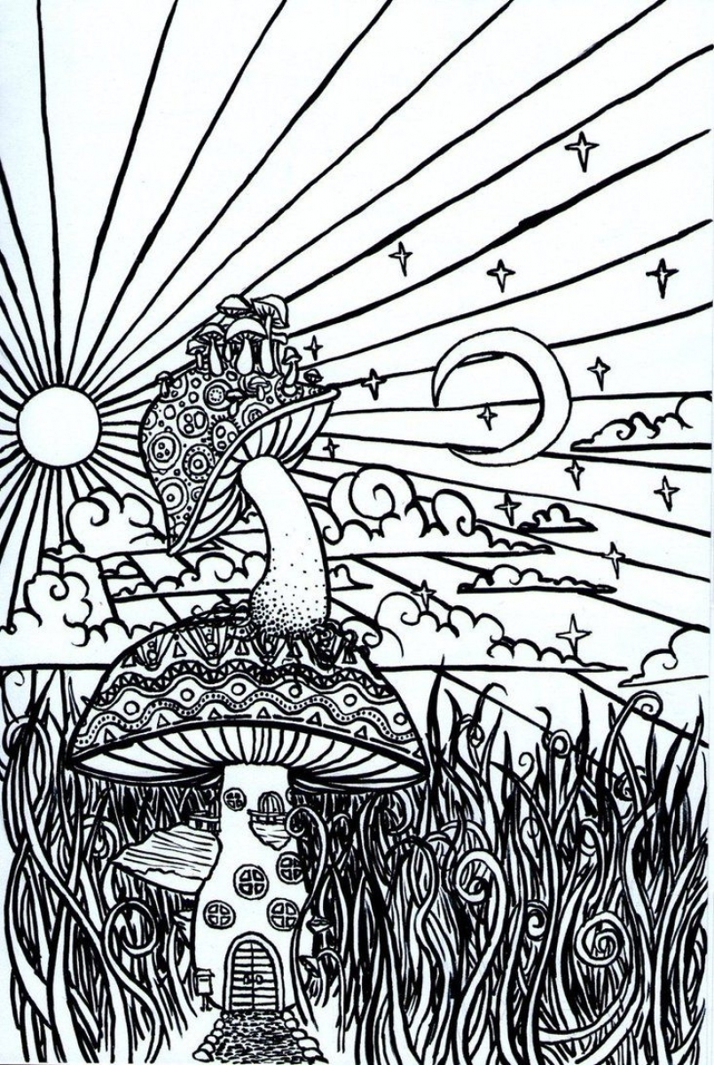 printable trippy coloring pages for grown ups ga93v - Trippy Coloring Book