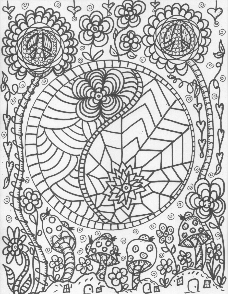 Get this printable trippy coloring pages for grown ups gt6v6 for Printable psychedelic coloring pages
