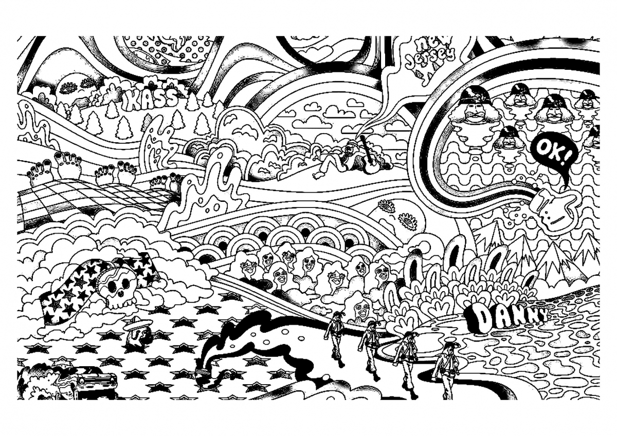 Get This Printable Trippy Coloring