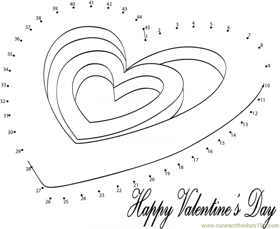 Printable Valentine Dot To Coloring Pages Online HQTZH