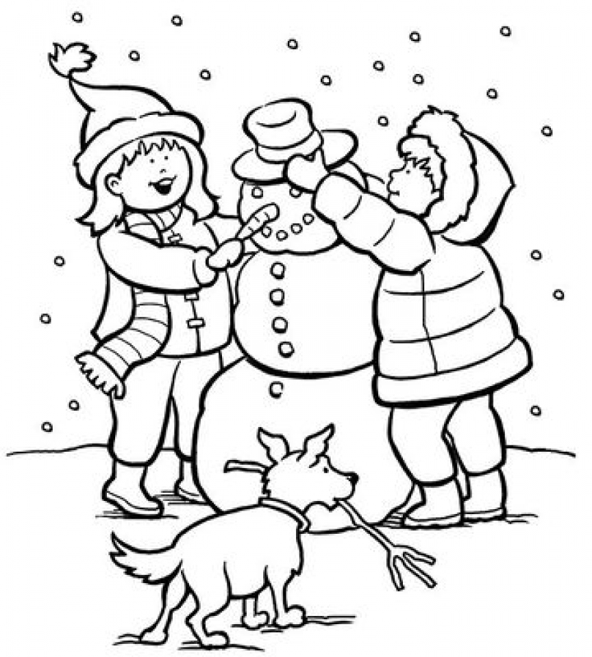 Get This Printable Winter Coloring Pages